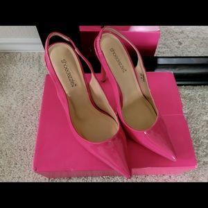 Hot pink sling backs